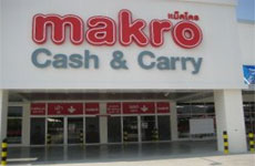 Taxi Thailand. Supermarket Makro