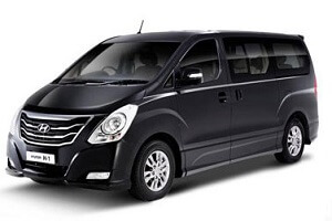 Car with driver. Taxi. Transfer from Bangkok to Pattaya. Type 4. Hyunday H1 Deluxe