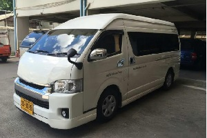 Rent a car with driver. Taxi. Type 4. VAN Toyota Commuter. Transfer from bangkok to koh chang